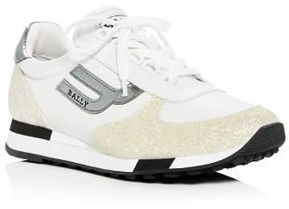 Bally Women's Gavina Glitter Lace-Up Sneakers