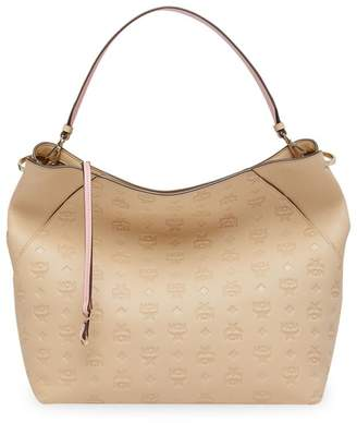 83bb9bf2c MCM Large Klara Monogram Leather Hobo Bag