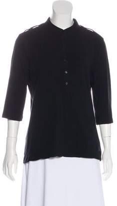 Burberry Collar Long Sleeve Top