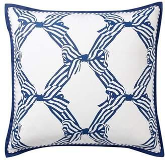 Pottery Barn Teen Bow Euro Pillow, 26x26, Royal Navy