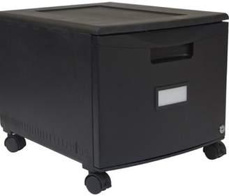 Storex STOREX 1-Drawer Mobile Lateral Filing Cabinet