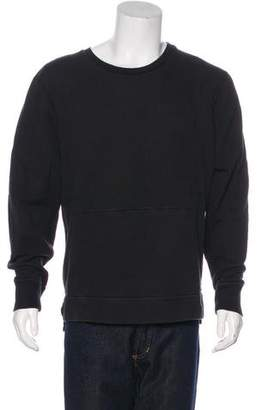 John Elliott Zip-Accented Crew Neck Sweater