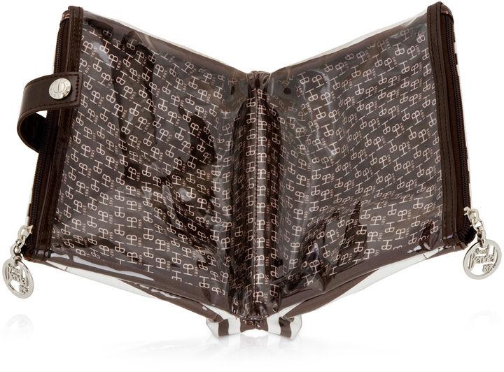 Henri Bendel Brown & White Folding Cosmetic Bag
