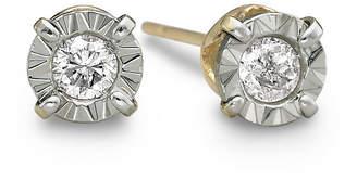 JCPenney FINE JEWELRY 1/5 CT. T.W. Round Diamond Studs 10K Yellow Gold
