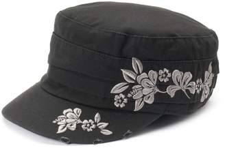 Peter Grimm Women's Wahine Floral Distressed Cadet Hat