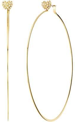Michael Kors Love Is In The Air Pave Heart Stud Hoop Earrings Earring