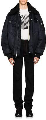 Calvin Klein Men's Shearling-Lined Oversized Bomber Jacket