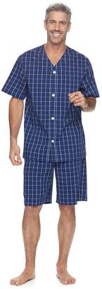 Croft & Barrow Men's True Comfort Stretch Woven Pajama Set