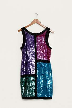 Urban Renewal Vintage One-of-a-Kind Square Pattern Sequin Dress