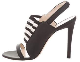 Christopher Kane Leather Round-Toe Sandals