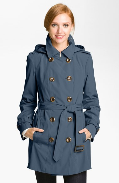 Calvin Klein Double Breasted Trench Coat (Online Only)