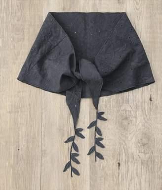 刺繍レースストール(C・ブルーグレー)[SALE]