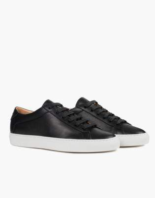 Madewell Unisex Koio Capri Onyx Low-Top Sneakers in Black Leather