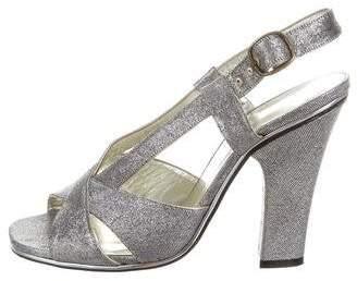 Marc Jacobs Metallic Multistrap Sandals