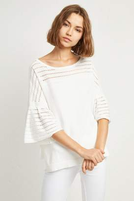 French Connenction Luna Knit Fluted Sleeved Sweater