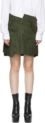 Junya Watanabe Khaki Cargo Miniskirt