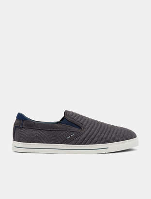 Ted Baker DANIAM Slip-on suede and wool trainers