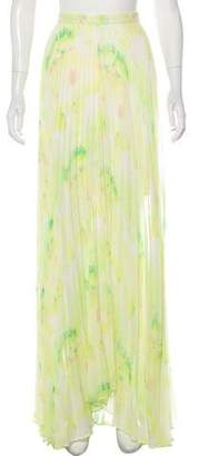 Alice + Olivia Pleat-Accented Maxi Skirt