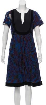 Schumacher Dorothee Embroidered Wool- Blend Dress