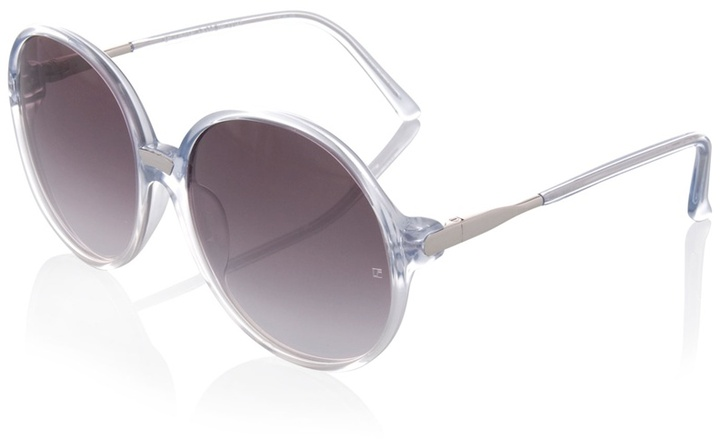 LINDA FARROW LUXE - Transparent oversized sunglasses