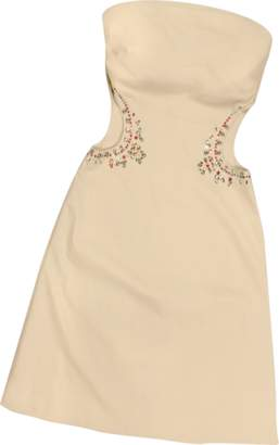 Hafize Ozbudak Opale Crystal Decorated Cut Out Strapless Dress