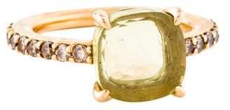 Pomellato 18K Quartz & Diamond Baby Cocktail Ring
