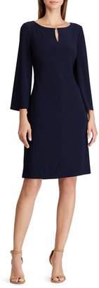 Lauren Ralph Lauren Keyhole A-Line Jersey Dress