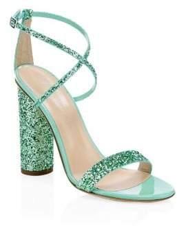 Giuseppe Zanotti Glitter Block Heel Sandals