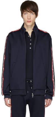 Moncler Navy Logo Sleeve Track Jacket