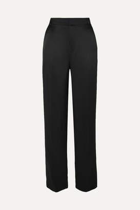 Joseph Jack Silk-satin Straight-leg Pants - Black