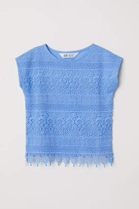 H&M Lace Top - Blue