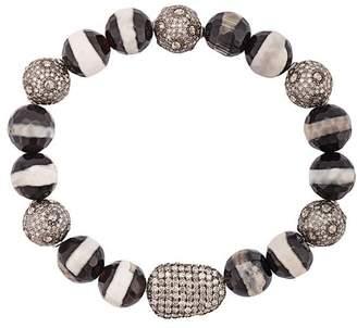 Loree Rodkin agate beaded diamond bracelet