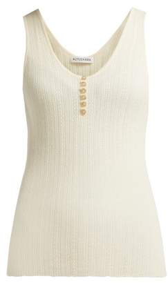 Altuzarra Mirto Pointelle Knit Wool And Cashmere Blend Top - Womens - Ivory