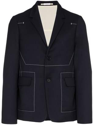 Jil Sander top stitch virgin wool blazer
