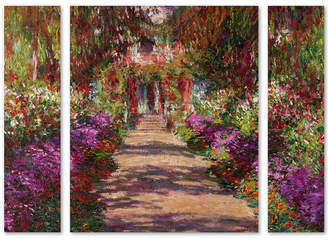 Claude Monet 'A Pathway in Monet's Garden' Large Multi-Panel Wall Art Set