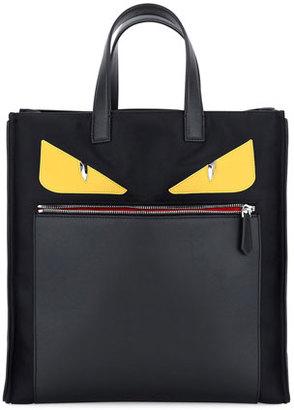 Fendi Monster Creature Tote Back w/Leather Details, Black $1,450 thestylecure.com