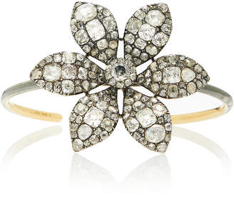 Simon Teakle Antique Diamond Flower Bangle