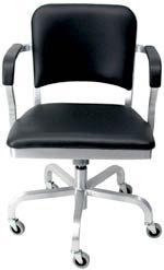Emeco Navy Upholstered Swivel Armchair