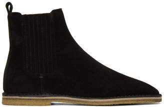 Saint Laurent Black Suede Nino Chelsea Boots