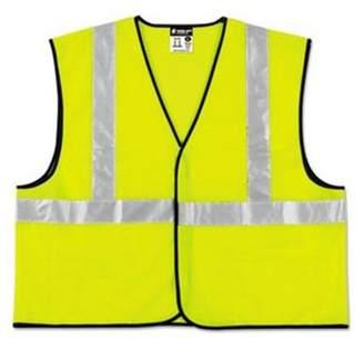 Rvr RVR VCL2SLX3 Class 2 Safety Vest, Polyester Lime Green with Silver Stripe - 3XL