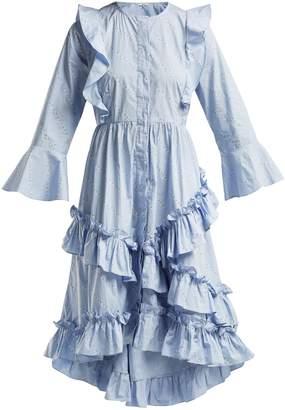 Ganni Faulkner flower-print cotton midi dress