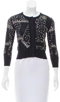 Oscar de la Renta Embellished Silk-Cashmere Cardigan