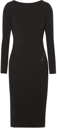 TOM FORD - Open-back Zip-detailed Stretch-crepe Dress - Black $1,870 thestylecure.com