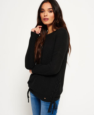Arizona Lace Up Rib Knit Jumper $54.50 thestylecure.com