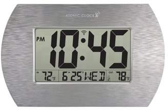 Better Homes & Gardens Digital Atomic Clock, Stainless Steel Finish