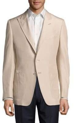 Tom Ford Solid Notch-Lapel Silk Jacket