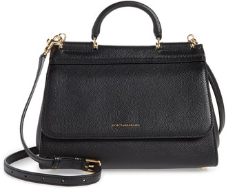 Dolce & Gabbana Large Miss Sicily Top Handle Leather Satchel