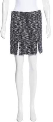 Alexander McQueen Tweed Mini Skirt Black Tweed Mini Skirt