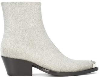 Calvin Klein Silver-tipped Ankle Boot