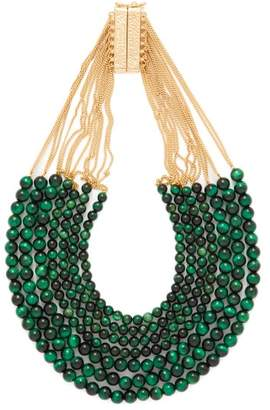 Rosantica By Michela Panero - Esplosione Quartz Bead Necklace - Womens - Green Multi